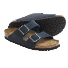 Birkenstock Arizona Sandals - Oiled Leather, Soft Footbed (For Women) in Insignia Blue - Closeouts