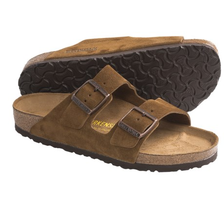 Birkenstock Arizona Suede Sandals (For Men and Women) in Brown Suede