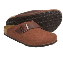Birkenstock Basel Clogs - Wool-Leather (For Men and Women) in Henna Oiled Leather - Closeouts