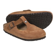 Birkenstock Bern Clogs - Leather (For Women) in Cognac Nubuck - Closeouts