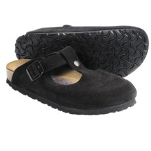 Birkenstock Bern Clogs - Suede Soft Footbed (For Women) in Black Suede - Closeouts