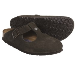 Birkenstock Bern Clogs - Suede Soft Footbed (For Women) in Black Suede