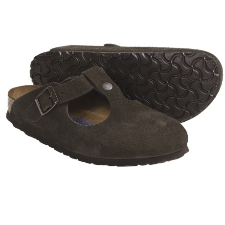 Birkenstock Bern Clogs - Suede Soft Footbed (For Women) in Black Suede