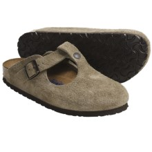 Birkenstock Bern Clogs - Suede Soft Footbed (For Women) in Taupe Suede - Closeouts
