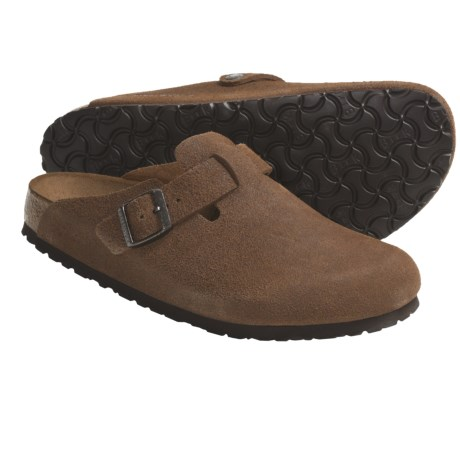 Birkenstock Boston Clogs - Soft Footbed (For Men and Women) in Sumatra Leather