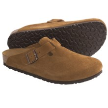 Birkenstock Boston Clogs - Suede (For Men and Women) in Brown Suede - Closeouts