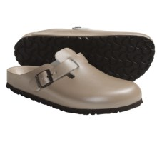Birkenstock Boston Exquisite Clogs - Leather (For Men and Women) in Champagne - Closeouts
