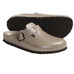 Birkenstock Boston Exquisite Clogs - Leather (For Men and Women) in Champagne