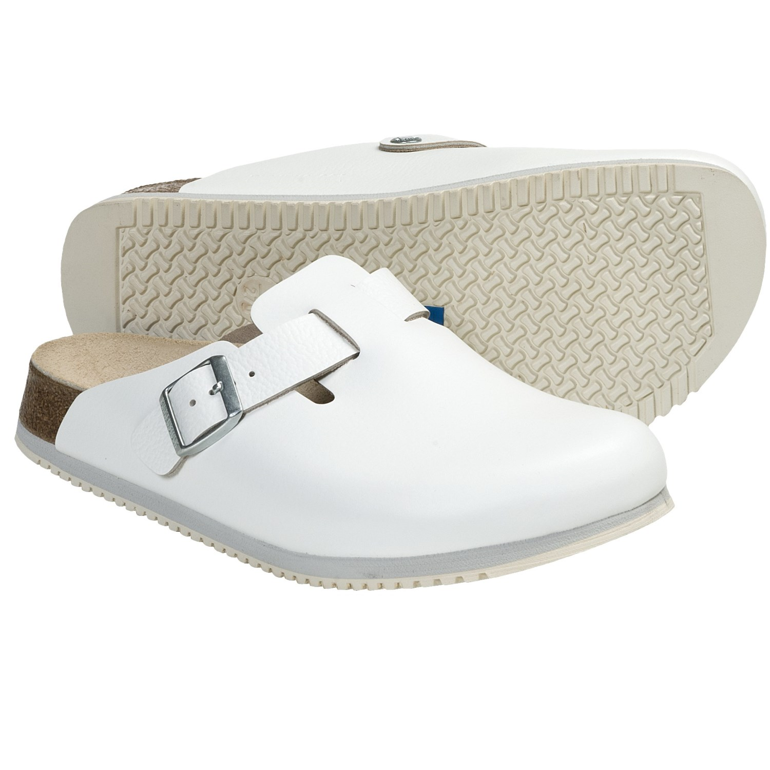 white birkenstock super grip clogs