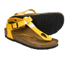 Birkenstock Cairo Sandals - Birko-flor® (For Women) in Lemon Yellow Patent - Closeouts