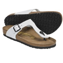Birkenstock Gizeh Leather Sandals (For Women) in Cortina White Leather - Closeouts
