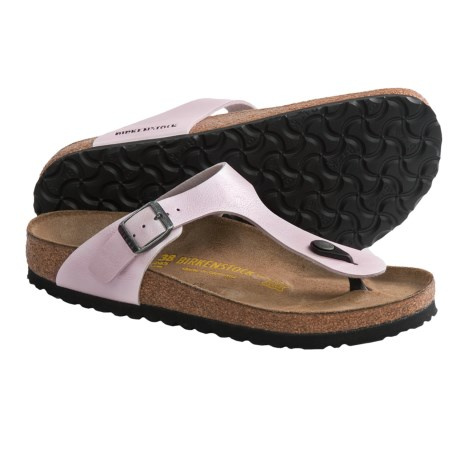 Birkenstock Gizeh Sandals - Birko-flor® (For Women) in Graceful Rose Red