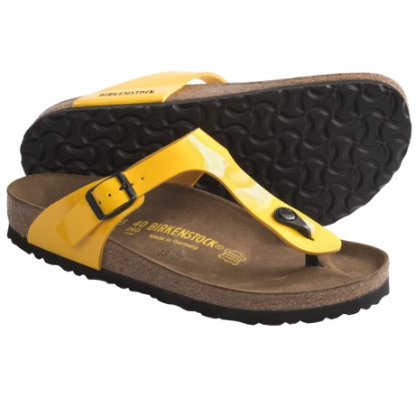 Birkenstock Gizeh Sandals - Birko-flor® (For Women) in Lemon Patent