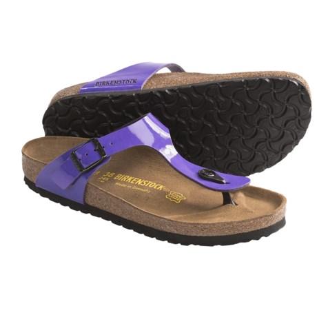 Birkenstock Gizeh Sandals - Birko-flor® (For Women) in Lilac Patent