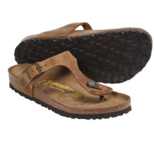 Birkenstock Gizeh Sandals - Oiled Leather (For Women) in Aspen Gold Oiled Leather - Closeouts
