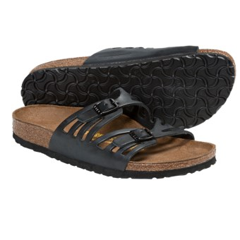 Birkenstock Granada Sandals - Leather (For Women) in Hunter Black