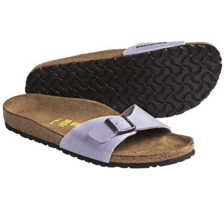 Birkenstock Madrid Sandals - Birko-Flor® (For Women) in Scuba Blue Patent