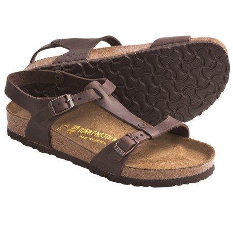 Birkenstock Odessa Sandals - Oiled Leather (For Women) in Habana