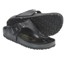 Birkenstock Ramses Sandals - Leather (For Men and Women) in Black Leather - Closeouts