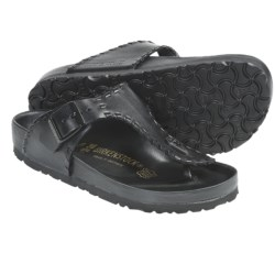 Birkenstock Ramses Sandals - Leather (For Men and Women) in Black Leather