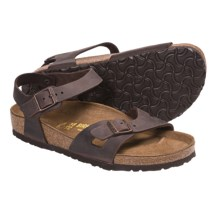 Birkenstock Rio Sandals with Ankle Straps  (For Women) in Habana Oiled Leather - Closeouts