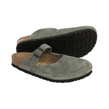 Birkenstock Rosemead Mary Jane Shoes - Leather (For Women) in Grey Suede - Closeouts