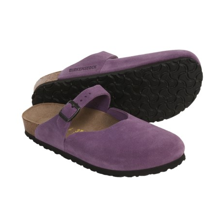Birkenstock Rosemead Mary Jane Shoes - Leather (For Women) in Plum Suede