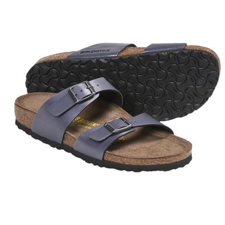 Birkenstock Sydney Sandals - Birko-flor® Straps (For Women) in Onyx