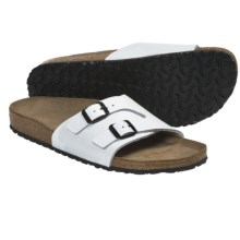 Birkenstock Vaduz Sandals - Leather (For Men and Women) in Cortina White Leather - Closeouts