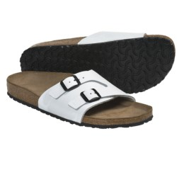 Birkenstock Vaduz Sandals - Leather (For Men and Women) in Cortina White Leather