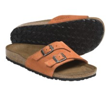 Birkenstock Vaduz Sandals - Leather (For Men and Women) in Sunkissed Suede - Closeouts