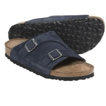 Birkenstock Zurich Sandals (For Men and Women) in Denim Suede - Closeouts
