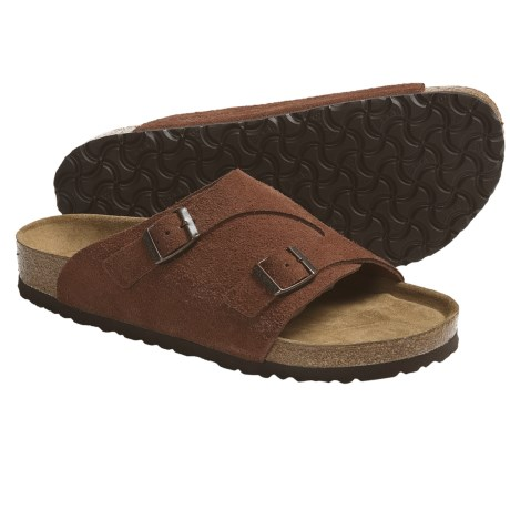 Birkenstock Zurich Sandals (For Men and Women) in White Sand Suede