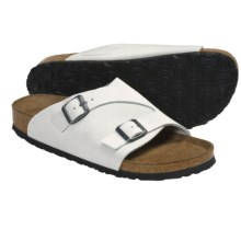 Birkenstock Zurich Sandals (For Men and Women) in White Sand Suede - Closeouts