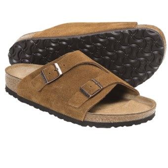 Birkenstock Zurich Sandals - Leather (For Men and Women) in Brown Suede