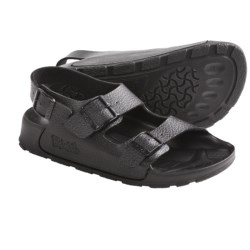 Birki's by Birkenstock Aruba Sandals - Birko-flor® (For Men and Women) in Black Pebble Grain