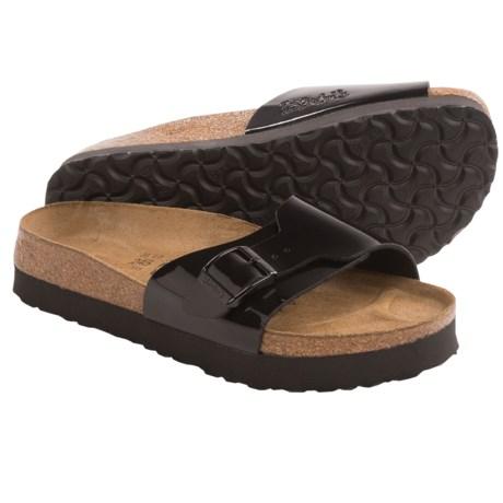 Birki's by Birkenstock Catalina Platform Sandals - Patent Birko-flor® (For Women) in Black