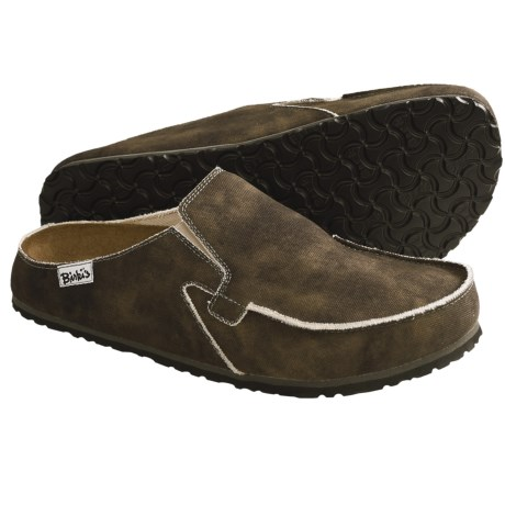 Birki's by Birkenstock Classic Skipper Clogs (For Men) in Canvas Dark Brown