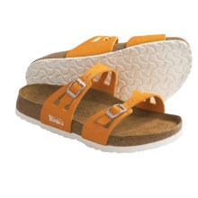Birki's by Birkenstock Moorea Sandals - Glitter Crinkle Birko-flor® (For Women) in Orange - Closeouts