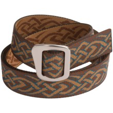 Bison Designs 30 mm Web Belt with Millenium Buckle (For Men and Women) in Blackthorn Teal - Closeouts