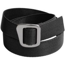 Bison Designs 30 mm Web Belt with Millenium Buckle (For Men and Women) in Carbon - Closeouts