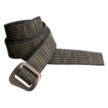 Bison Designs 30 mm Web Belt with Millenium Buckle (For Men and Women) in Tweed - Closeouts