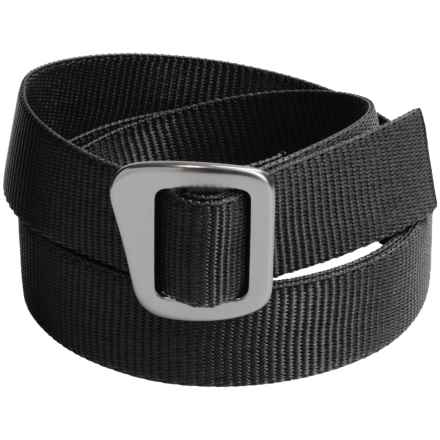 Bison Designs 30mm Web Belt with Millennium Buckle (For Men and Women) in Carbon - Closeouts