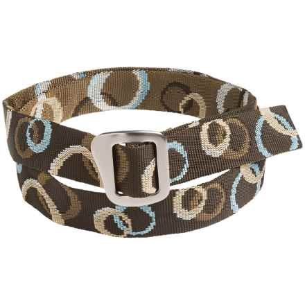 Bison Designs 30mm Web Belt with Millennium Buckle (For Men and Women) in Mocha - Closeouts