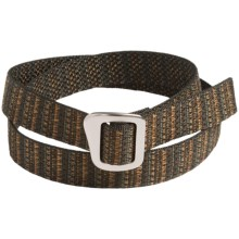 Bison Designs 30mm Web Belt with Millennium Buckle (For Men and Women) in Rouge - Closeouts