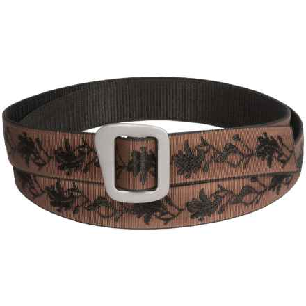 Bison Designs 30mm Web Belt with Millennium Buckle (For Men and Women) in Tatoo Damask Brown - Closeouts