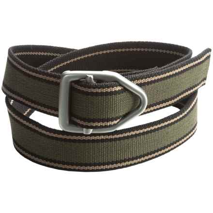 Bison Designs 38mm Last Chance Gunmetal Belt (For Men and Women) in Pathway - Closeouts