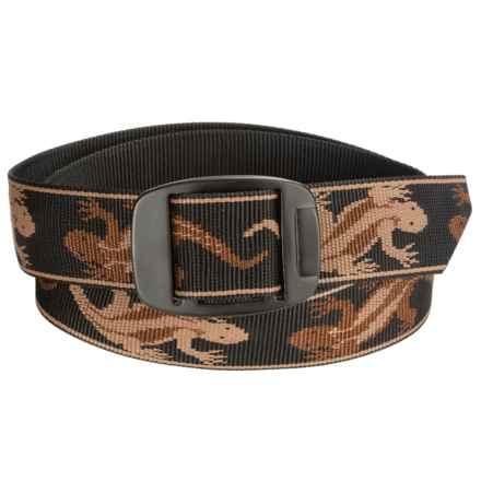 Bison Designs BDB Belt (For Men and Women) in Geko Brown - Closeouts