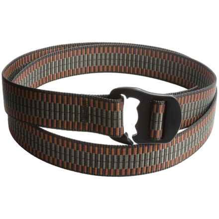 Bison Designs Black Decapinator Belt (For Men and Women) in Ladder Lock - Closeouts