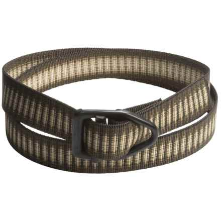 Bison Designs Black Viper Belt (For Men and Women) in Chai - Closeouts
